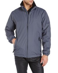 Izod | Gray Bomber Jacket for Men | Lyst