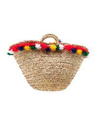 Muzungu Sisters Natural Sicilian Tassel Basket