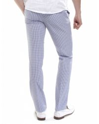 Jules B - Blue Gingham Trousers for Men - Lyst