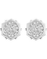 Swarovski | Metallic Bolt Pierced Earrings | Lyst