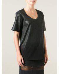 Diesel Black Gold Black Scoop Neck T-shirt