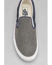 Vans - Blue Classic Slipon Denim Mens Sneaker for Men - Lyst