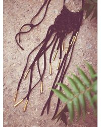 Free People | Black Sun And Glory Womens Gold Fire Macrame Necklace | Lyst