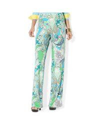 Lauren by Ralph Lauren | Multicolor Wide Leg Paisley Print Pants | Lyst