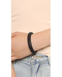 Madewell Black Leather Wrap Bangle - Rich Brown