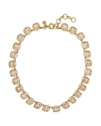 J.Crew - Metallic In The Round Goldplated Crystal Necklace - Lyst