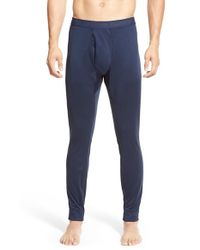 Patagonia Blue 'capilene 3' Midweight Base Layer Pants for men