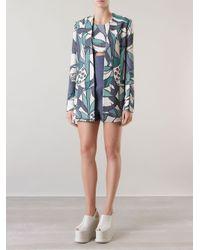 Giuliana Romanno - Green Belted Printed Blazer - Lyst
