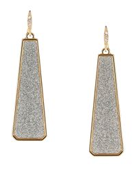 ABS By Allen Schwartz | Metallic Glitter Drop Earrings | Lyst