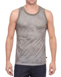 William Rast | Gray Tonal Burst Print Tank for Men | Lyst