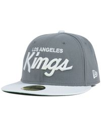 KTZ | Gray Los Angeles Kings Team Color 59Fifty Cap for Men | Lyst