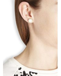 Marc By Marc Jacobs - Natural Cream Enamel Disc Stud Earrings - Lyst