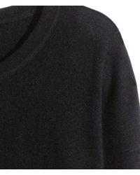 H&M | Black Cashmere Jumper | Lyst