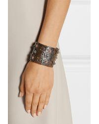 Bottega Veneta | Metallic Oxidized And Rose Gold-Plated Sterling Silver Cuff | Lyst