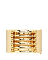 Chloé - Metallic 'frances' Open Bar Brass Bangle - Lyst