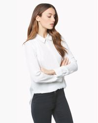 Veronica Beard | White Adams Collared Shirt | Lyst