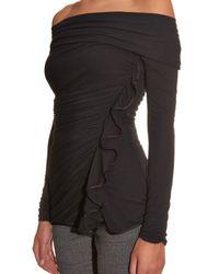 Givenchy - Black Off-Shoulder Jersey Top - Lyst