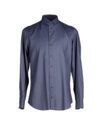 Armani - Blue Shirt for Men - Lyst