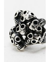 Urban Outfitters | Metallic Multi Skull Ring in Silver | Lyst