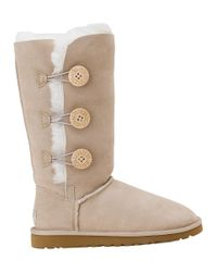 UGG | Natural Bailey Button Triplet Boot Sand Suede | Lyst