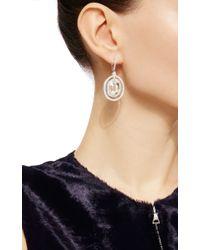 Nina Runsdorf | Metallic Rose Cut Ciamond And Platinum Earrings | Lyst