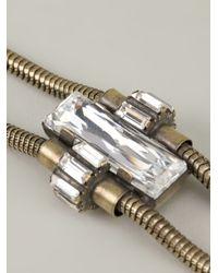 Auden - Metallic Axl Spike Bolo Necklace - Lyst
