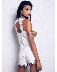 Free People | White Tavi Romper | Lyst
