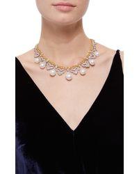 Buccellati White Pearl And Diamond Necklace