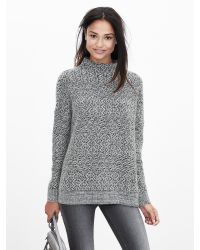 Banana Republic | Gray Heritage Textured Mock Sweater Pullover | Lyst