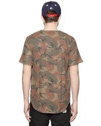 Stussy Brown Techno Wool Blend Baseball T-Shirt for men