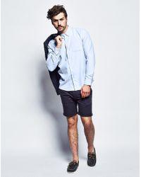 Bellfield - Long Sleeve Basic Oxford Shirt Blue for Men - Lyst