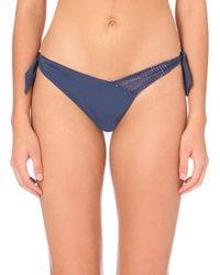 La Perla | Blue Glimmering Soutache Bikini Bottoms | Lyst