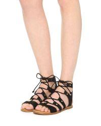 Dolce Vita - Black Jasmyn Suede Gladiator Sandals - Lyst