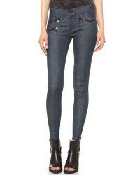 Rag & Bone Blue Rbw 23 Crop Zipper Jeans
