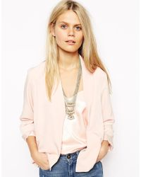 Kasturjewels - Metallic Long Chain Statement Necklace with White Pearl Cluster Detail - Lyst