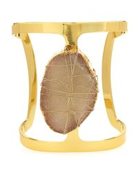 Lydell NYC - Metallic Wire-Wrapped Druzy Cuff Bracelet - Lyst