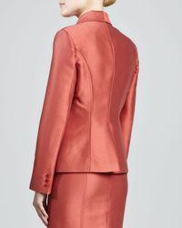 Carolina Herrera - Brown Mikado Jacket - Lyst