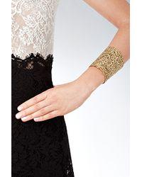Aurelie Bidermann | Metallic Aurélie Bidermann Gold Lace Cuff - Gold | Lyst