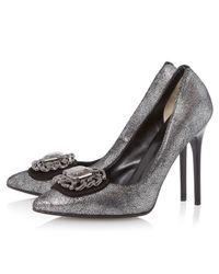 Dune Black | Metallic Billie Embellished Court Shoes | Lyst