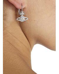 Vivienne Westwood | Metallic Silver Tone Swarovski Orb Drop Earrings | Lyst