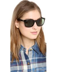 Ray-Ban Black Oversized Square Sunglasses Browndark Brown Polar
