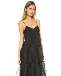 Free People | Black Rose Tiered Maxi Dress | Lyst