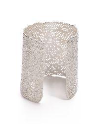 Aurelie Bidermann - Metallic Vintage Lace Cuff Silver - Lyst
