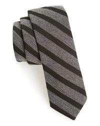 Todd Snyder Black Woven Tie for men