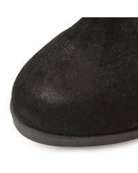 Steve Madden Black Octagon Block Heel Over The Knee Boots