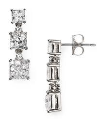 Nadri - Metallic Triple Square Drop Earrings - Lyst