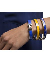 Hermès - Pre-owned Blue and Gold Night Sky Enamel 70 Bangle Bracelet - Lyst