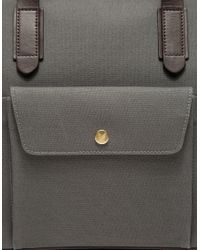 Mismo Gray M/s Briefcase In Steel for men