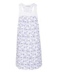 John Lewis - Blue Stitch Floral Jersey Chemise - Lyst