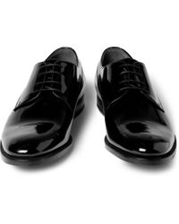 Gucci - Black Patent-Leather Derby Shoes for Men - Lyst